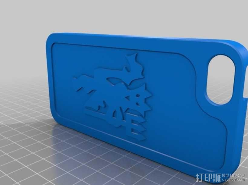 iphone5s手机壳 3D模型  图2