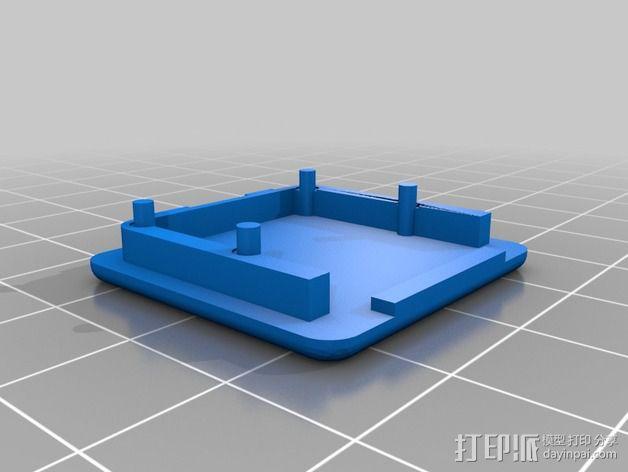 芯片保护壳 3D模型  图2
