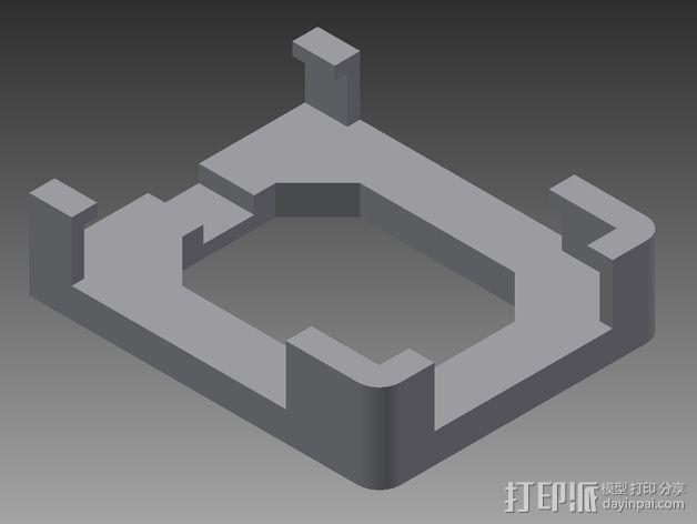 iphone4s车载手机座 3D模型  图2
