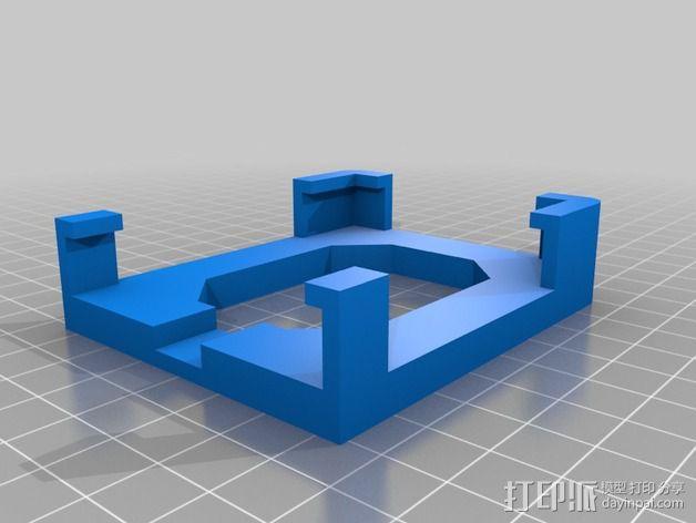 iphone4s车载手机座 3D模型  图3