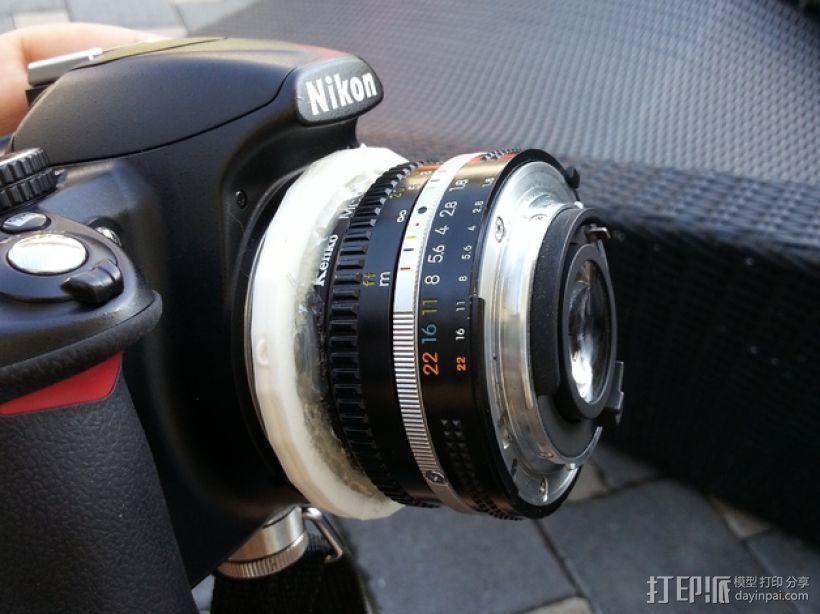 尼康相机适配器 3D模型  图1
