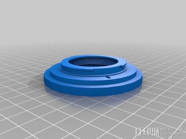 尼康相机适配器 3D模型  图2
