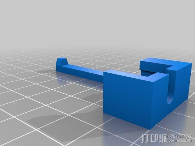 苹果电脑适配器 3D模型  图2