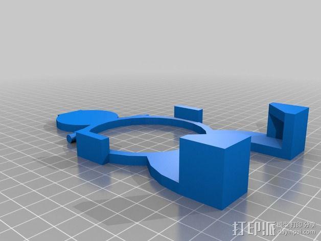 无线充电站 3D模型  图1