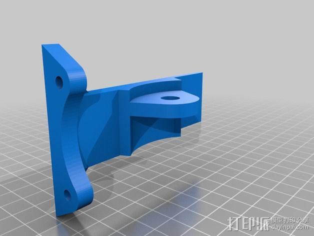 车载iphone手机座 3D模型  图3
