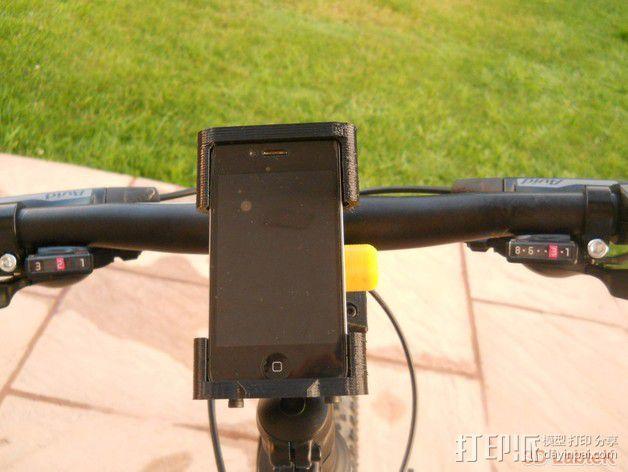 车载iphone手机座 3D模型  图2