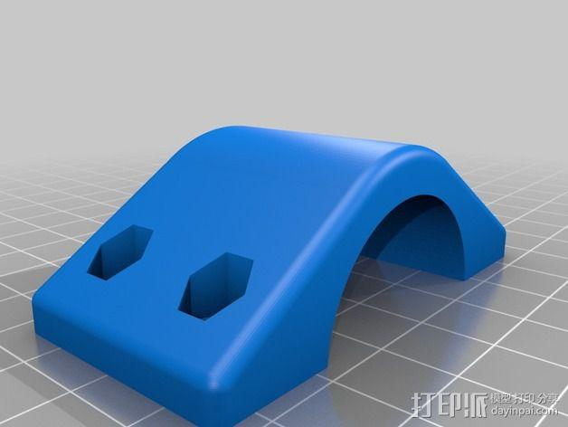 车载iphone手机座 3D模型  图6