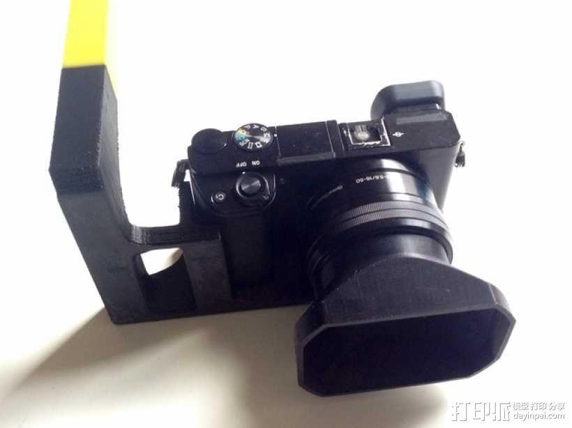 手持索尼相机支架 3D模型  图1