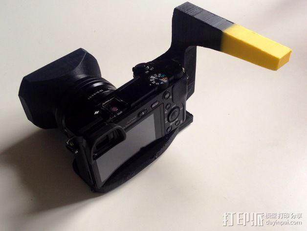 手持索尼相机支架 3D模型  图7