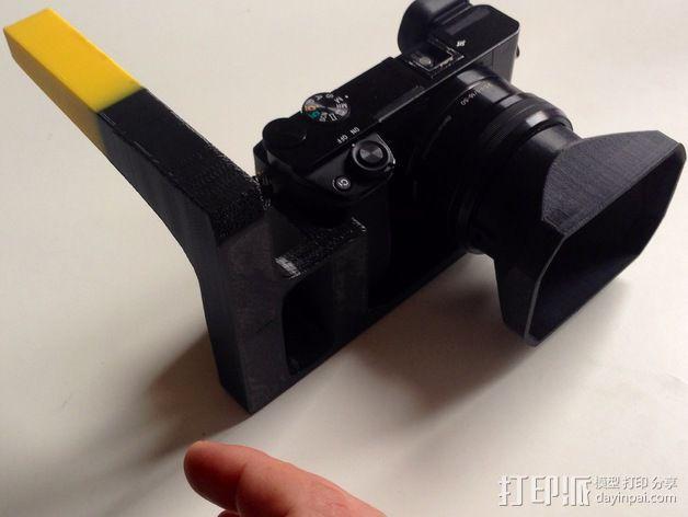 手持索尼相机支架 3D模型  图4