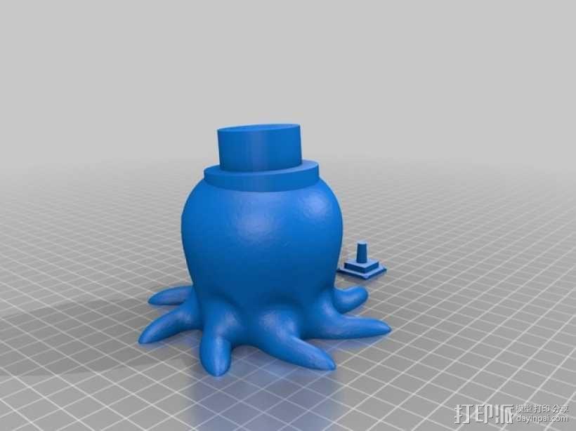 章鱼摄影按钮                                                                                                                                                                                                                                                          3D模型  图2