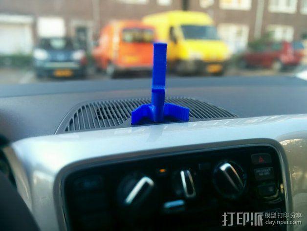 车载手机座 3D模型  图4
