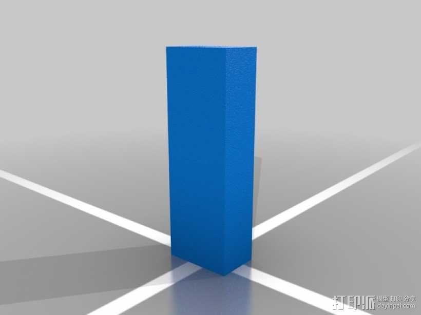 壁柱 3D模型  图2