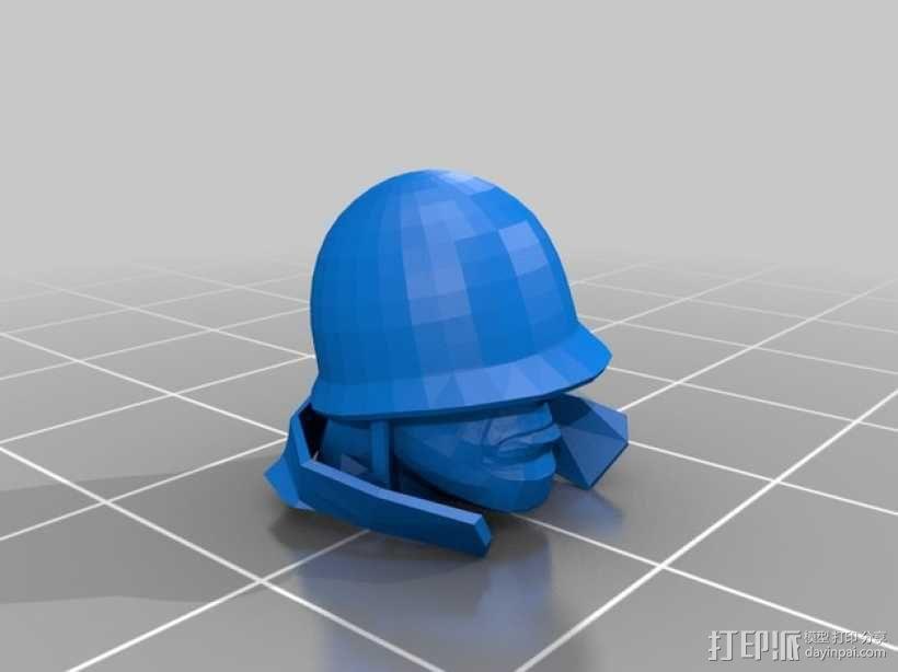 士兵头像 3D模型  图2
