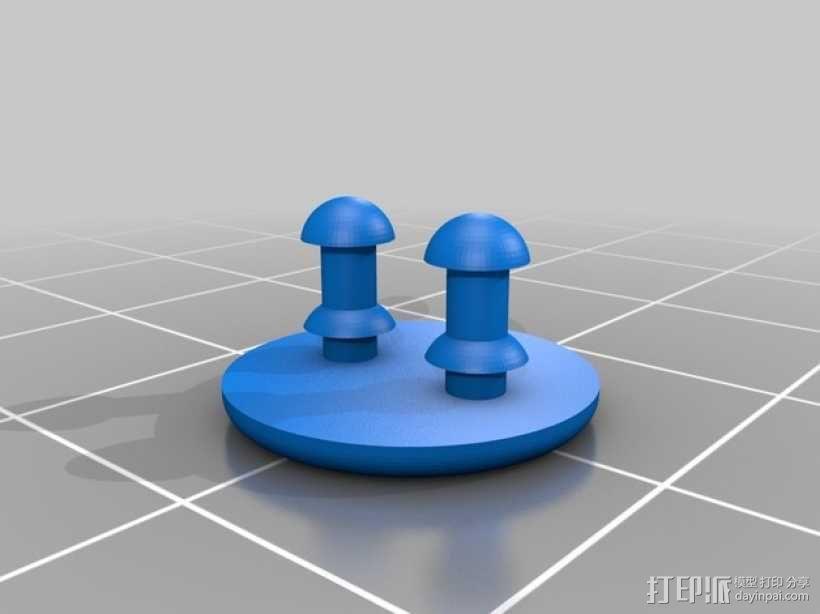 柱形替换接口 3D模型  图2