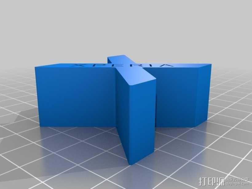 X形手机支架 3D模型  图2