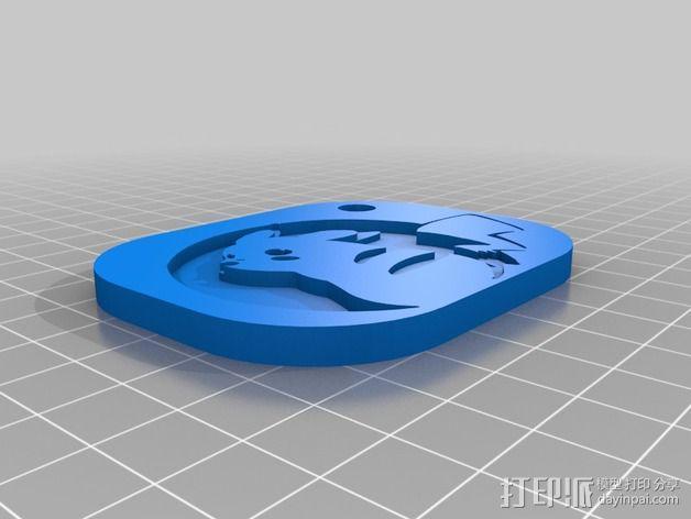 皮卡丘卡片 3D模型  图2
