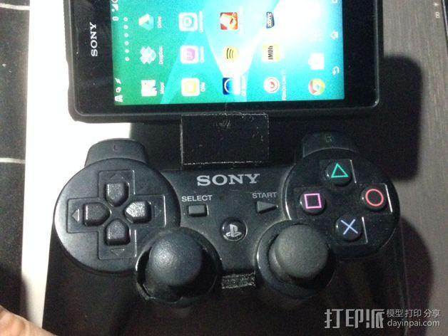 PS3 控制器和Sony Xperia 衔接器 3D模型  图3
