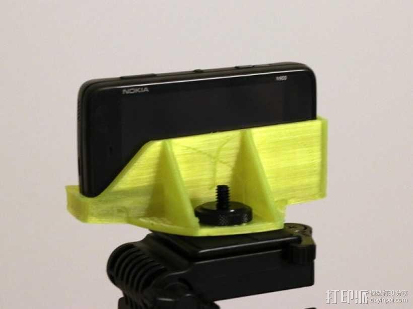 诺基亚N900三角支架 3D模型  图1