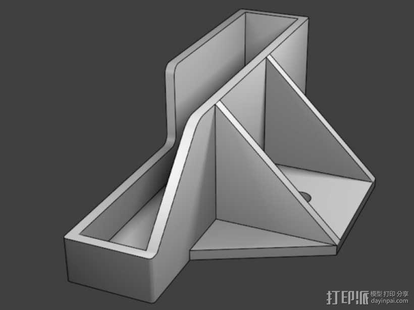 诺基亚N900三角支架 3D模型  图3