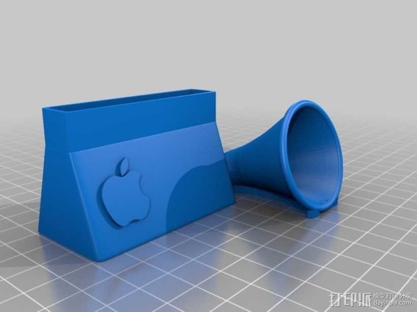 iphone4 喇叭手机座 3D模型  图3
