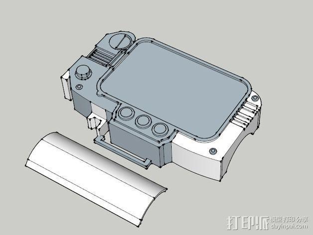 Pip Boy 3000 3D模型  图3