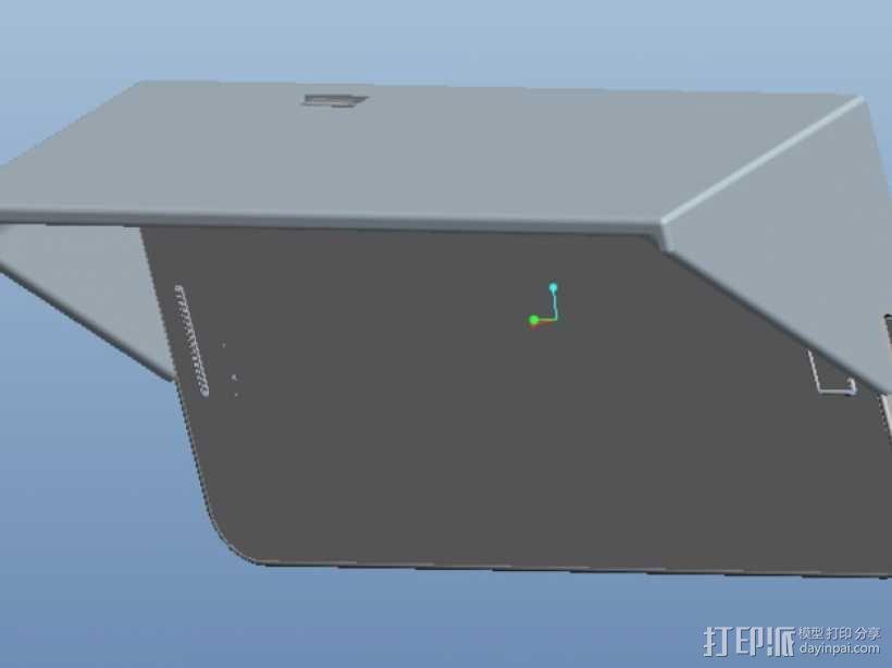三星S2遮阳板 3D模型  图1