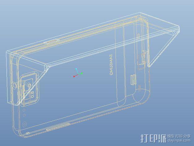 三星S2遮阳板 3D模型  图5