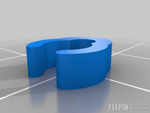 AKG K701电线夹 3D模型  图2
