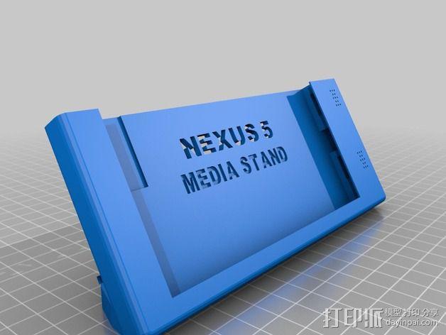 Nexus 5手机座 3D模型  图1