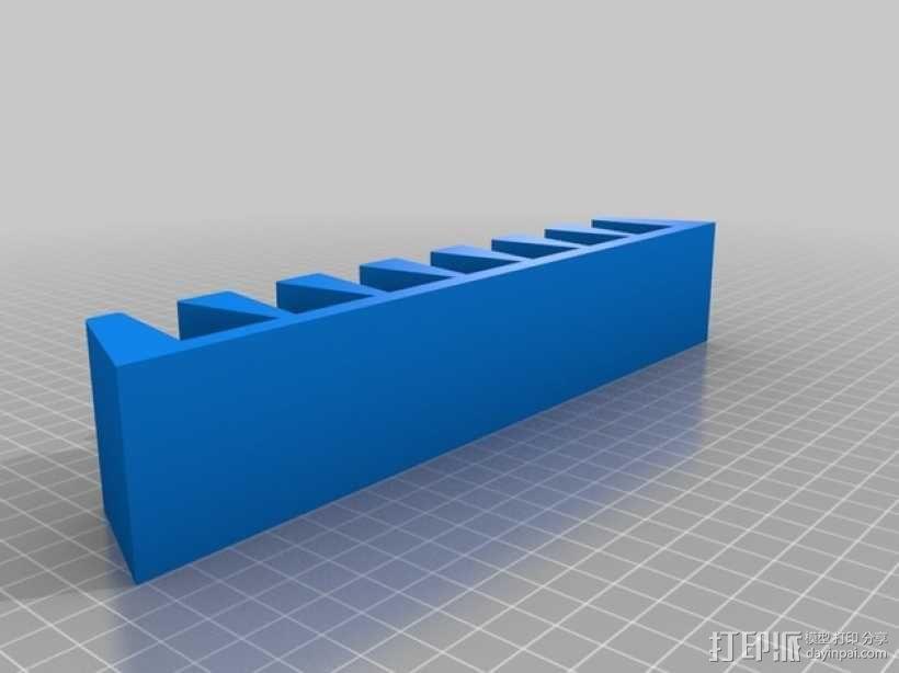 DVD ,唱片架 3D模型  图1