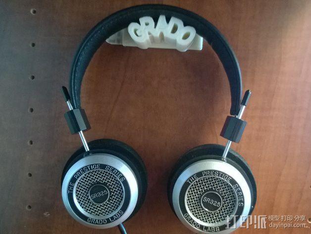 耳机支架 3D模型  图3