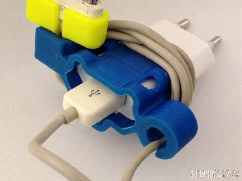 充电器绕线器 3D模型  图2