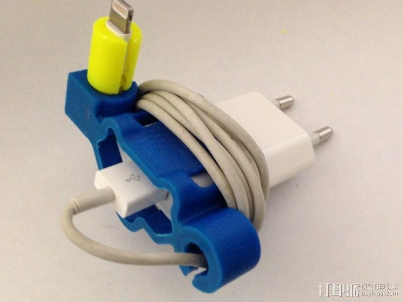 充电器绕线器 3D模型  图1