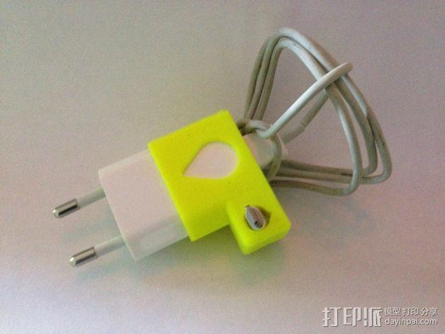 苹果锯齿状绕线器 3D模型  图1