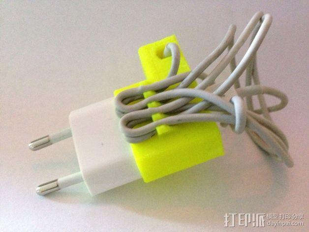 苹果锯齿状绕线器 3D模型  图2