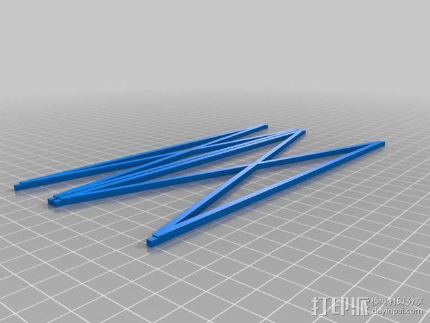 平板画架 3D模型  图2