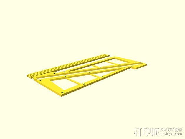 平板画架 3D模型  图3