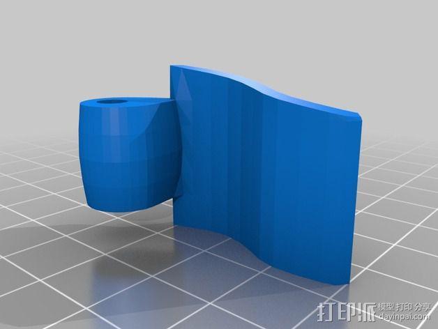 三脚架锁 3D模型  图1