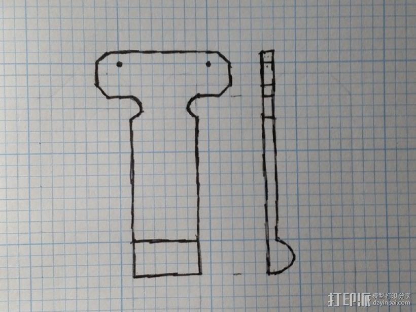 带扣Galaxy S5手机壳 3D模型  图14