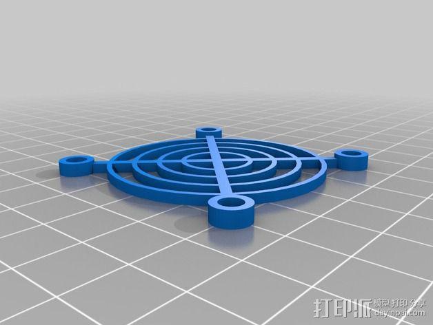 50mm风扇罩 3D模型  图2