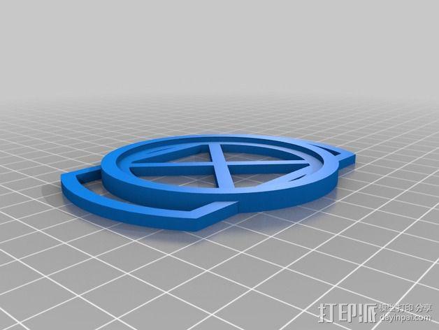 62mm镜头盖 3D模型  图1