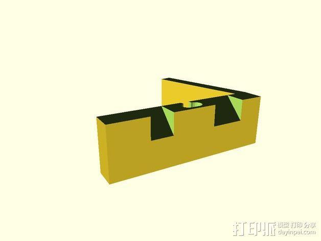 闪电样式苹果手机座 3D模型  图2