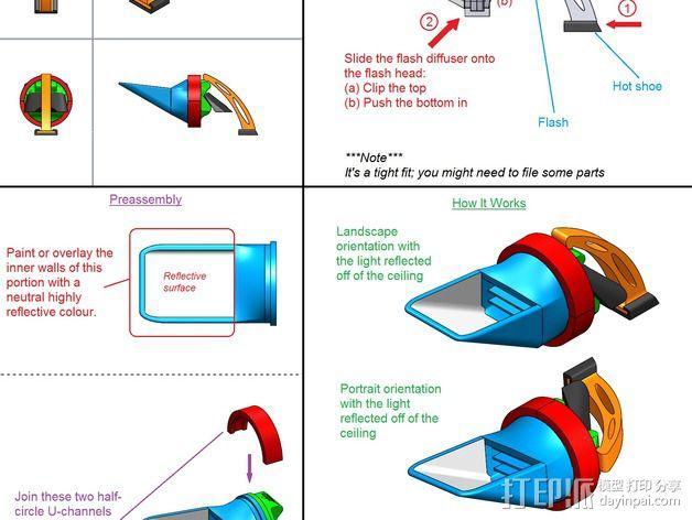 尼康闪光灯扩散器 3D模型  图1