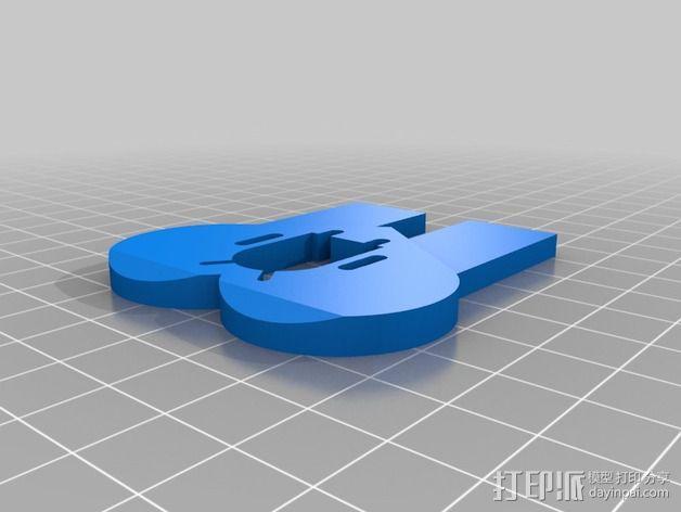 Galaxy S5/Note 3手机座 3D模型  图2