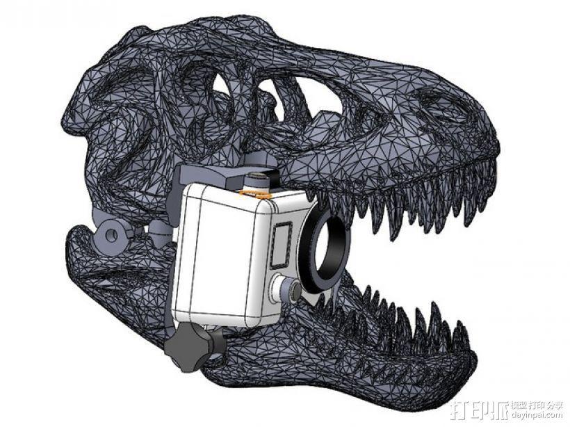 恐龙相机外壳 3D模型  图1
