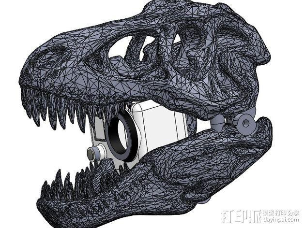 恐龙相机外壳 3D模型  图4