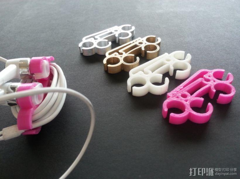 耳机圈线器 3D模型  图1