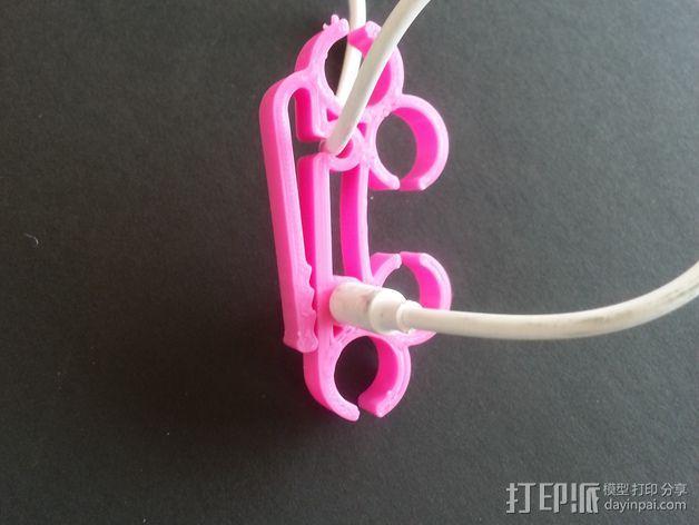 耳机圈线器 3D模型  图3