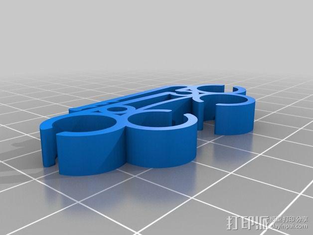 耳机圈线器 3D模型  图4